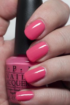 Favorite pink color in the world! Opi Nail Polish, Opi Nails, Manicures, Fancy Nails, Nice Nails, Opi Collections, Tattoo Designs, Nail Designs, The Claw