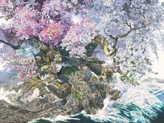 Each art piece by Manabu Ikeda is an entire world of its own. The Japanese artist includes so many details that you can literally spend hours looking at it and still discover new elements. The reason? He spends countless hours working on each artwork.