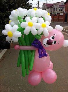 49 Ideas for birthday cake flower bouquets mothers Mothers Day Balloons, Valentines Balloons, Birthday Balloons, Ballon Decorations, Balloon Centerpieces, Flower Decorations, Balloon Flowers, Balloon Bouquet, Balloon Garland