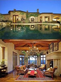 Santa Fe single storyLocation: Rancho Santa Fe, N.M. Price: $6,295,000 Size: 8,215 square feet. Who says ranch homes can't be supersized? This enormous, single-story luxury home is in the gated golf community of Bridges. The Spanish-influenced home on a double lot includes a guest house connected by a stone arch to the main residence. The infinity pool overlooks one of the fairways.