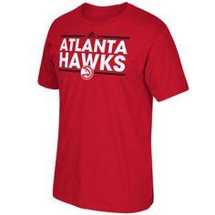 superior quality 2bc66 1a7a2 Men s Atlanta Hawks adidas Red Dassler T-Shirt