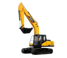 Medium Excavator Heavy Equipment is the right choice for earthwork, building and mining. The SANY Excavator Machinery are widely known for low fuel consumption. Falling Objects, Excavator For Sale, Track Roller, Steel Sheet, Fuel Economy, Rear View Mirror, Heavy Equipment, Crane