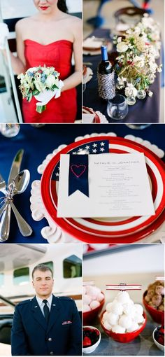 red white and blue wedding, for forth of July wedding