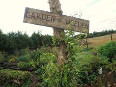 """Sign, wood garden sign """"Garden of Weeden"""""""
