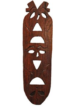 Antique Indonesian Mask From Kalimantan Region
