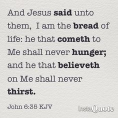 Bread of life!
