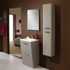 HiB Palamas Tall Storage Unit Calico High x Wide x Deep Led Furniture, Bathroom Furniture, Bathroom Standing Cabinet, Basin Unit, Fitted Bathroom, Bathroom Basin, Flooring, Storage, Modern