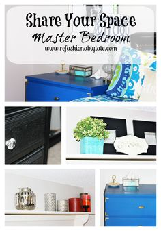 Master Bedroom Reveal on Share Your Space - www.refashionablylate.com