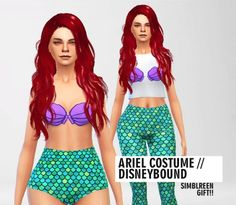 Pure Sims: Ariel costume • Sims 4 Downloads