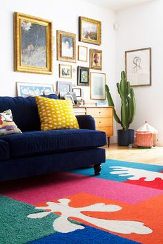 DIY Matisse-inspired cut out rug - The House That Lars Built