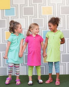 Girls Good Times Dress - Designed with our easy-to-use zipper for little hands learning to dress themselves. Featuring pockets for storing treasures and no drawstrings in hoodies for safety. | Peekaboo Beans - contact your local Play Stylist or shop on-vine at www.peekaboobeans.com