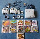 Sega Dreamcast USA - 2 controllers 3 mem cards - 10 games - TESTED and WORKS!