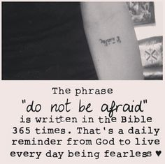Do not be afraid tattoo in Arabic. I would get this in honor of my sponsor child.
