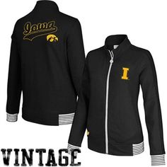 Iowa Hawkeyes Ladies Fleece Track Jacket