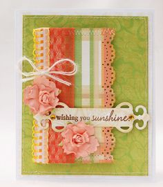 Sweet way to use trim and border punches