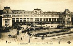 Le Canal du Midi en Languedoc : Cartes postales anciennes : Toulouse