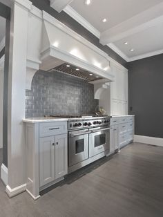 Gray kitchen Ansley Park contemporary kitchen, great colors, backsplash is perfect Beadboard Backsplash, Herringbone Backsplash, Easy Backsplash, Hexagon Backsplash, Travertine Backsplash, Marble Counters, Wood Countertops, Kitchen Backsplash, Floor Design