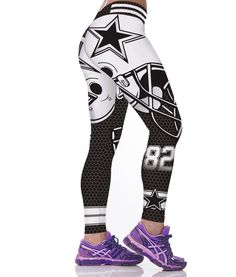 Unisex NFL Team Dallas Cowboys Logo Yoga Leggings Woman Fitness Leggings  Gym Workout Pants Dallas Cowboys 8fcc12ec208