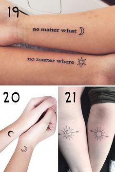 Matching Friendship Tattoos, Friend Tattoos Small, Small Matching Tattoos, Matching Best Friend Tattoos, Matching Tattoos For Cousins, Couples Matching Tattoos, Friendship Symbol Tattoos, Tattoo Friends, Cute Best Friend Tattoos