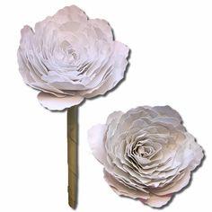 Bits of Paper: 3D Magnolia and Ranunculus v2 Paper Flowers