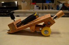 "Custom DIY Chisel/Plane Blade Adjustable Angle Honing Guide for ""Very Sharp"" sharpening system."