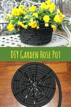 What do you do when your garden hose starts leaking? If the leak was in its end, then it's super easy to fix. But what if the leak was in the middle? Then you'll end up with too short pieces of that hose, which wouldn't be useful. So you would throw it away, right? Nope, there are many cool things you can make with this old leaking hose. You can use these items you make in your garden or in your home as well. Here are some of the best ways to repurpose your old garden hoses into g... Garden Hose, Outdoor Crafts, Outdoor Projects, Outdoor Decor, Outdoor Ideas, Outdoor Spaces, Outdoor Living, Outdoor Gardens, Home Decor Items