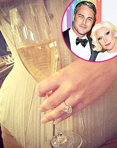 Lady Gaga showed off her huge heart-shaped engagement ring via Instagram on Monday, March 3