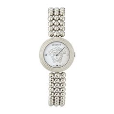 Versace VO203 0014, EON SOIRE', SS white dial SS band womens watch Made by #Versace Color #White. Versace. VO203 0014