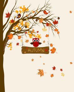 Autumn Leaves Paper Print | Wayfair