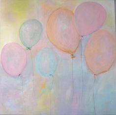 Original Acrylbild auf Leinwand ( 100*100) Titel: Luftballons Preis: 400€