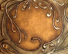 Copper Art Nouveau style CAN BE DONE JUSING CARDBOARD, GLUE AND FOIL in faux copper tech