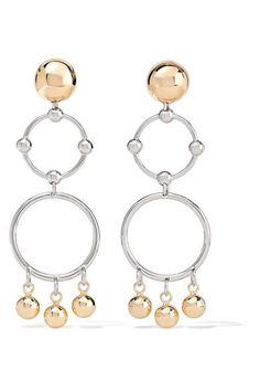 Eddie Borgo | Barbell Chandelier gold and rhodium-plated earrings | NET-A-PORTER.COM