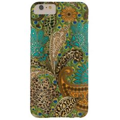 Chic Animal Print Paisley Barely There iPhone 6 Plus Case