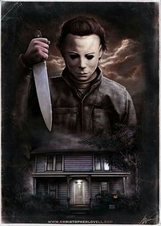 Here is a Halloween piece I recently painted for Fright Rags. Was great to finally get the chance to do a Michael Myers Piece. Michael Myers - Halloween by Christopher Lovell Halloween Film, Halloween Tags, Halloween Horror, Halloween Kunst, Halloween Poster, Halloween Artwork, Halloween Painting, Halloween Night, Spooky Halloween