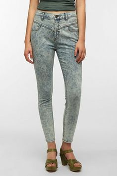 BDG High-Rise Seamed Jean - Chalk Wash