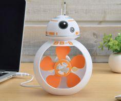 BB-8 USB Desk Fan: Fan-Droid - Technabob