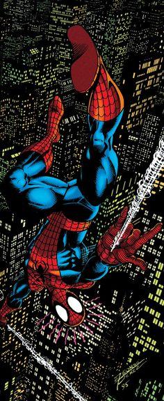 Hot Superheros Marvel DC Comics SKYSCRAPER Atop Image New Art Poster T-161