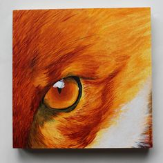 """""""Fiery"""" first in a series of Small Portraits, done in acrylic on board. 15.3cm x 15.3cm (6""""x6"""") Available in the shop!  © 2013 Tamara David"""
