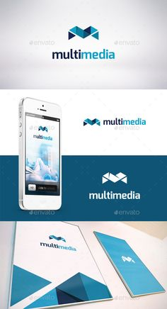 Multi Media - Logo Design Template Vector #logotype Download it here…