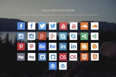30+ Free Social Media Icons 2016 | Glyphs, Outline Icons, Flat & Long Shadow – Designscrazed