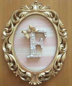 Girl Nursery, Girl Room, Nursery Decor, Diy Letters, Wooden Letters, Light Letters, Decoration Buffet, Alphabet Wallpaper, Baby Frame