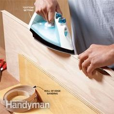 How to apply edge banding to plywood, makes it look like solid wood