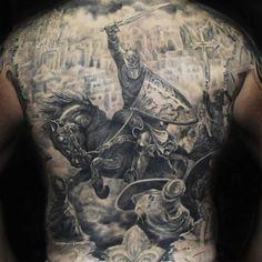Badass Full Back Tattoos For Men - Best Back Tattoos For Men: Cool Back Tattoo Designs For Guys - Men's Upper, Lower, Full Back Tattoo Ideas Small Back Tattoos, Cool Back Tattoos, Back Piece Tattoo, Back Tattoos For Guys, Pieces Tattoo, Best Tattoos For Women, Top Tattoos, Celtic Tattoos, Wing Tattoos
