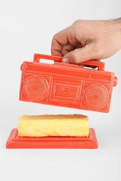 Boombox Butter Dish - a conversation piece!