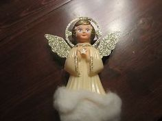 "Vintage Angel Tree Topper ""Doubl Glo"" 