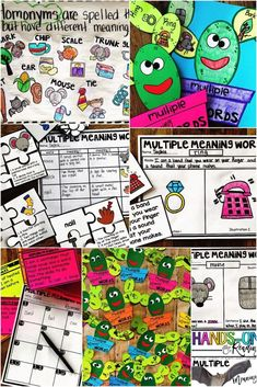 Multiple Meaning Words: Homonyms {Hands-on Reading} Teach multiple meaning words with this engaging and hands-on resource. This bundle includes five days of mini lessons, anchor charts, class games with recording sheets, an interactive notebook page, task cards, puzzles, a craft, and q quick assessment. This is a complete hands-on mini unit that will add fun and excitement to your classroom.