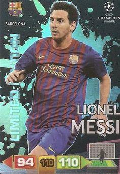 Champions League Adrenalyn XL 2011/2012 Lionel Messi 11/12 Limited Edition #laliga #bfc #topgoalscorer