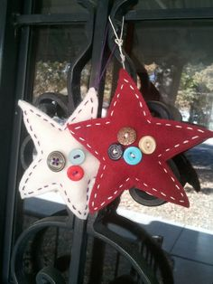 Handmade Felt Star Christmas Ornaments