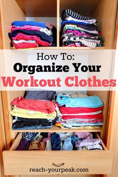 How To Organize Your Workout Gear #pinoftheday
