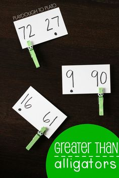 Such a memorable way to teach greater than!! Make some greater than alligators.